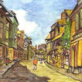 Carol Wisniewski - Honfleur France La Rue de La Bouille after Monet
