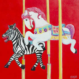 Jan Matson - Horse and Zebra Carousel