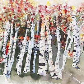 Connie Mclaren - Horse In Birch Trees