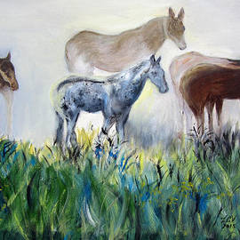 Lucille  Valentino - Horses in the Fog