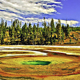 Bob and Nadine Johnston - Prismatic Geyser Yellowstone National Park