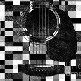 Andee Design - Hour Glass Guitar Random BW Squares