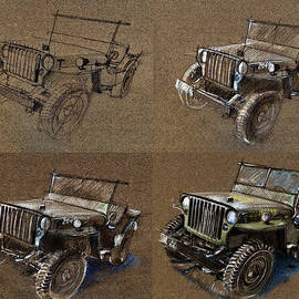 Daliana Pacuraru - How to draw a 1943 Willys Jeep MB car