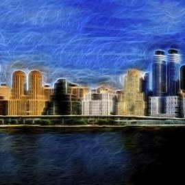 Theodore Jones - Hudson River Night