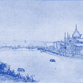 Justin Woodhouse - Hungarian Parliament Building in Budapest Blueprint