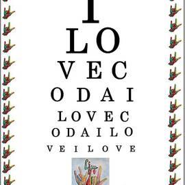 Eloise Schneider - I LOVE CODA Eye Chart