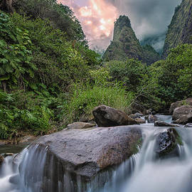 Hawaii  Fine Art Photography - Iao Needle Sunset