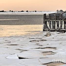 Janice Drew - Ice Chunks at State Pier