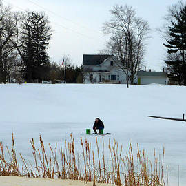 Tina M Wenger - ice fishing 2015 March