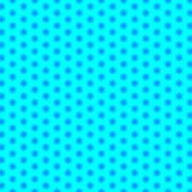 Shelley Neff - Icy Aqua and Blue Snowflake Pattern