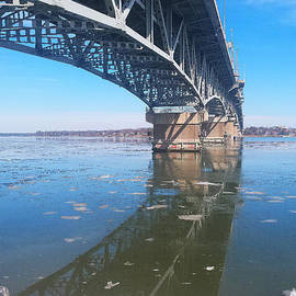 Nancy Comley - Icy Reflection of the Coleman Bridge