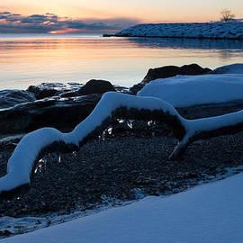 Georgia Mizuleva - Icy Snowy Winter Sunrise on the Lake