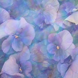 Photographic Art and Design by Dora Sofia Caputo - Impressionistic Blue Hydrangeas