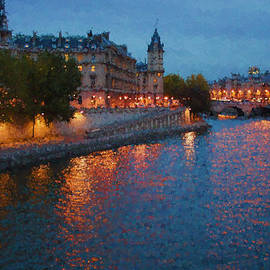 Georgia Mizuleva - Impressions of Paris - Shimmering Seine River at Night