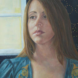 Suzan Fox Paintings In Egg Tempera - In Her Celestial Gaze
