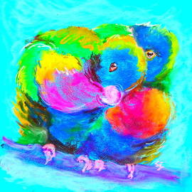Sue Jacobi - In Love Birds - Lorikeets
