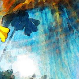 Sharon Cummings - In My Shadow - Yellow Daisy Art Painting