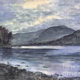 Carol Wisniewski - Derwent Water England In The Glowing Moonlight
