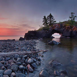 RB Art - Incredible Dawn at Hollow Rocks North Shore MN