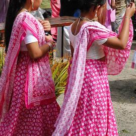 Robert Ford - Indian Girls and Beautiful Sari Dresses in Downtown Nairobi Kenya at Hindu Festival