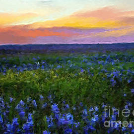 Anthony Fishburne - Indigo Poppy Field