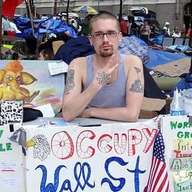 Ed Weidman - Info Booth-occupy Wall Street