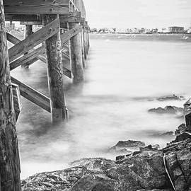 Jeff Folger - Infrared view of stormy waves at Stramsky wharf