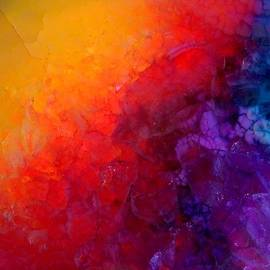 Lilia D - Inside the gemstone - colorful druzy