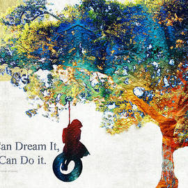 Sharon Cummings - Inspirational Art - You Can Do It - Sharon Cummings