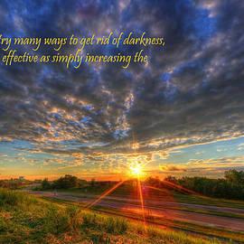 Wayne Moran - Inspirational Quote Get Rid of the Darkness