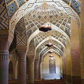 Robert Preston - Interior of the winter prayer hall of the Nazir ul Mulk Mosque at Shiraz in Iran