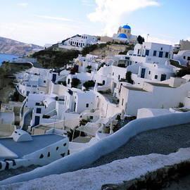 Colette V Hera  Guggenheim  - Ioa village  Santorini Island Greece