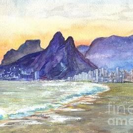 Carol Wisniewski  - Ipanema Beach Sunset Rio DeJaneiro  Brazil