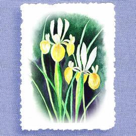 Irina Sztukowski - Iris Flowers Botanical Impressionism