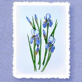 Irina Sztukowski - Iris Flowers Bouquet Botanical Impressionism
