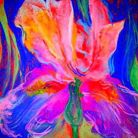 Sue Jacobi - Funky Iris Flower