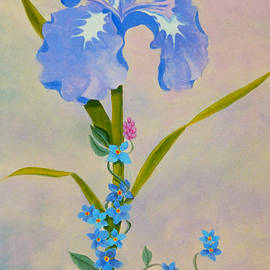 Teresa Ascone - Iris with Forget Me Nots