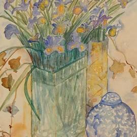Caroline Street - Irises with Chinese Pot