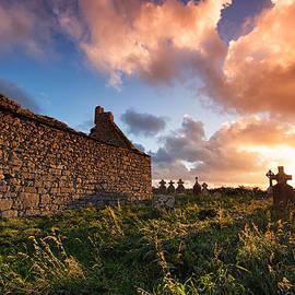 Allan Van Gasbeck - Irish Church Sunset