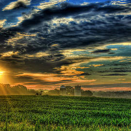 Reid Callaway - Iron Horse Sunrise Young Corn and Silos