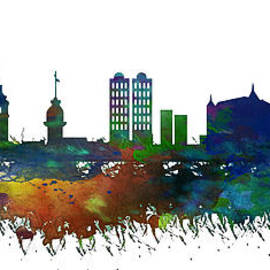 Celestial Images - Istanbul Skyline Watercolor