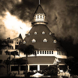 Wingsdomain Art and Photography - It Happened One Night At The Old Del Coronado Hotel 5D24270 sepia