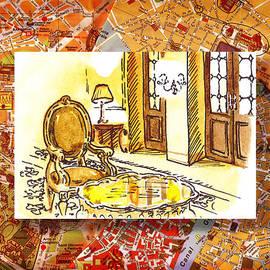 Irina Sztukowski - Italy Sketches Hotel Europa Regina