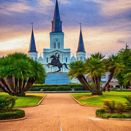 Steve Harrington - Jackson Square Cathedral - Paint