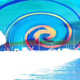Shawna  Rowe - Jackson Street Pier - Blue Swirl