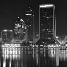 Frozen in Time Fine Art Photography - Jacksonville Black and White Night