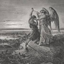 Gustave Dore - Jacob Wrestling with the Angel