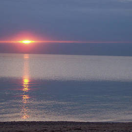 First Star Art  - Flash Sunset Lake Huron by jammer