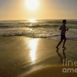 Kaye Menner - Jogging at Sunrise by Kaye Menner