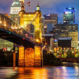 Gregory Ballos - John A. Roebling Bridge - Cincinnati Ohio